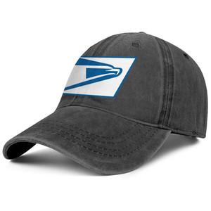 Stylish United States Postal Service USPS blue white Unisex Denim Baseball Cap Blank Team Hats American flag Distressed red Original 3D