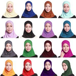 La oración musulmana Mujeres Bajo la bufanda del casquillo del sombrero islámico Damas Cuello cubierta Hijab Headwear