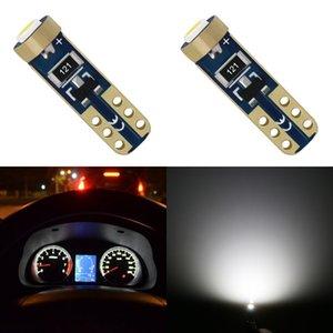 10 PCS 자동차 실내 T5 주도 1 SMD DC 12V 24V 전구 빛 세라믹 대시 보드 게이지 악기 세라믹 자동차 자동차 측 쐐기 램프