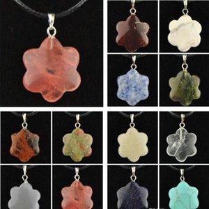 Wholesale Bullet Necklace Natural Stone Pendants Rose Quartz Healing Crystals Necklaces Women Luxury Jewelry Vintage Stone Bullet nEtwo