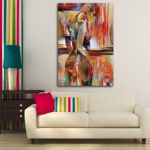 Modern Abstract Nordic Watercolor Sexy Beauty Girl Decorative Painting Frameless Pictures Wall Art Canvas Painting Posters & Prints