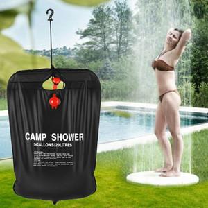 20L / 5 Gallonen Solarenergie beheizt Camp Dusche Bag Outdoor Camping Wandern PVC-Wasser-Beutel Klettern BBQ Picknick Wasserspeicher