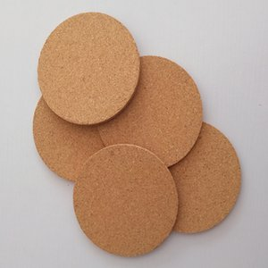 New Cork waterproof and non-slip cup cushion restaurant household used thermal insulation table cushion solid color round pad T3I5474