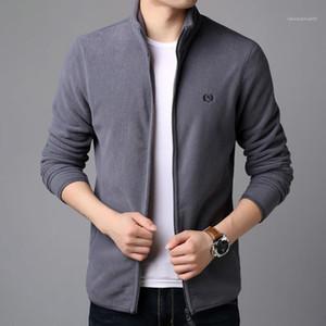 Mäntel Kleidung Mann-Winter-Desinger Dickes Fleece Jacke Fest Farbe Winter Herbst Warm Hombres