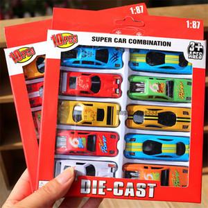 Crianças Carros Brinquedos 10 PACK Liga Puxar Para Trás Brinquedos de Corrida Crianças Carros Modelos de Liga de Brinquedo Empurrar Para Trás de Carros Em Caixa pacote
