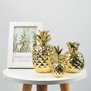 Vaso in ceramica di Trinket Ananas vaso sigillato contenitore di immagazzinaggio antipolvere caramella di zucchero serbatoio Modern Home Decorazione Accessori