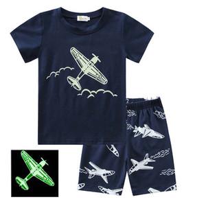 Marca los bebés y las camisetas del diseñador y se adaptan a cortocircuitos de la marca de los chándales Niños ropa venta caliente determinada impresión de la manera niños del verano