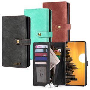 Caixa do telefone da carteira com slot para cartão de Capa Samsung Galaxy S20 Multi-Function em couro carteira de telefone Phone Case New Style para S20plus S10 S9