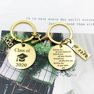2020 graduación regalo detrás de usted todas las memorias frente en todos su sueño llavero de la graduación inspirada Graduados regalos