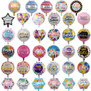 18 Inch inflatable birthday party ballons decorations helium foil balloon baby kids happy birthday balloons toys supplies home party
