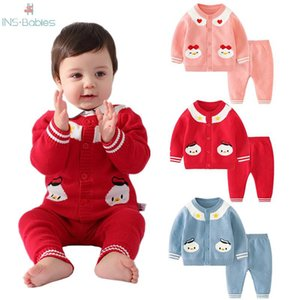 Baby Girl Clothes Newborn Sweater Set for boys 2020 autumn Knitted long sleeve red sets winter Baby boy clothes red infant suit