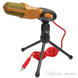 Condensateur Son Podcast Studio Stéréo Subwoofer Karaoké Microphone Stand Mai Enregistrement Chanter pour PC Cadeau D'ordinateur