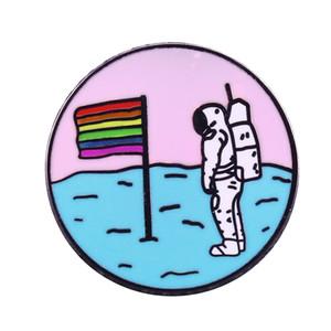 Queer луна радуга флаг брошка пространство и LGBTQ сообщества любителей совершенной гордости декора