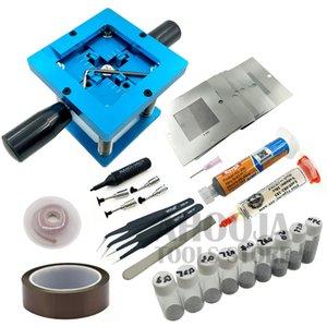 Piantagione Piattaforma BGA Piantare Tin sfera rilavorazione Kit + Tin Ball + maglia d'acciaio + Desoldering Wire + saldatura Flux + penna di aspirazione kit di riparazione