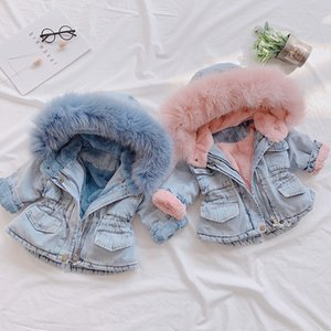2019 Nuovo Giacca di jeans per la ragazza del bambino di bambini autunno inverno tuta sportiva di modo Outfits bambini ragazza rivestimento Coats Kids Clothes