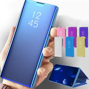 Astuta del cuoio dello specchio di caso per OPPO Trova X2 Pro Lite Reno 5Pro 4Pro 3PRO lusso libera del telefono di caso per OPPO F17 Pro F11 A52 A72 A92