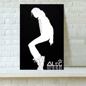 Alec Monopolys ЧЕРНЫЙ MJ MoonWalk, Холст Pieces Home Decor HD Печатный Современное искусство Живопись на холсте (Unframed / Framed)