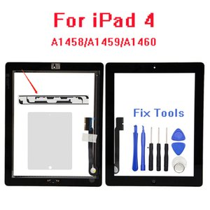 New For iPad 4 assembly A1458 A1459 A1460 + Home button+Tools Touch Screen Glass Digitizer with Professional Repair Kit LCD