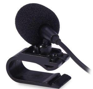 Profesionales Car Audio micrófono estéreo de 3,5 mm enchufe de gato del micrófono con cable mini micrófono externo para DVD de radio auto 3m LongProfessionals coche Aud