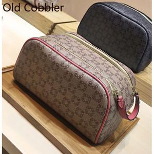 Old Cobbler KING SIZE TOILETRY BAG mode Beschichtetes Segeltuch Hochwertige Herren- und Damen-Waschbeutel Kostenloser Versand