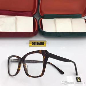 vetri ottici più nuovo GG0571 alta qualità Struttura importati puro plancia elastici occhiali da vista temple53-17-145for caso ingrosso pieno-set