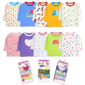 Boys T Shirt Long Sleeves Kids Girls boy Toddler Children Cotton Tops Cartoon O-neck Baby Clothing Clothes Full Infant Unisex five-piece