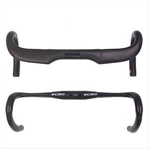 EC90 bicicleta de fibra de carbono manillar reducir la resistencia barra doblada reforzar piezas de la bici 400/420 / 440mm enrutamiento interior mate ud
