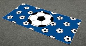 Baseball Beach Soccer asciugamano in microfibra bagno asciugamano morbido coperta asciugamano adulti involucro della spiaggia Yoga Mat Tovaglia Baseball Football stampa XH1264