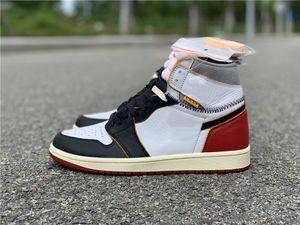 Con caja 1 alto OG CRED SATIN BLACK CHICAGO ROYAL UND FETRESS vuelo Phantom Turbo Green 1 Retro Toe Designer Zapatos casuales