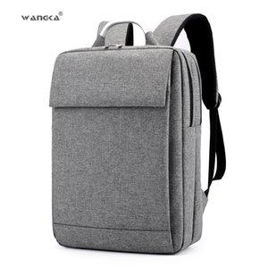 WANGKA мода бизнес мужская ноутбук холст рюкзак для 15.6 дюймов школьный ноутбук сумки женщины 2019 водонепроницаемый путешествия рюкзак X190903