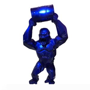 """Big 16"""" King Kong Creative Decoration Art Craft Animal Simulation Resin Statue Gorilla Bust Figure Collectible Model Toy BOX ornaments"""