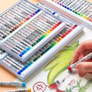 Creativi Graffiti Pastelli Pastelli Penne non tossico sicuro Brush Oil colorata pittura forniture d'arte di scuola pastelli dei bambini Oil