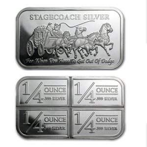 America One Ounce Stagecoach Silver Bar 999 Fine Silver Plated Coin Bars Stagecoach Silver Bar