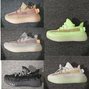 Toddler 2020 Baby Kanye West Kids Running Shoes Gid Clay Basketball Sneakers Chaussures Enfants Mesh Boy And Girl Chidren Infant Trainers
