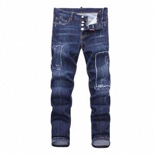 TOP luxury fashion Men Retro Jeans Slim Fit Motorcycle Biker Denim Jean High Quality Mens Jeans Hip Hop mens skinny jeans