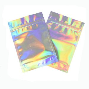 10x18cm 1000pcs 3x5 resealable plastic bags Holographic resealable bags Translucent Pouches designs Rings packaging bag 5PxJG aDTzG