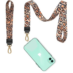 Factory cheap price lanyard custom logo company name Cell Phone wrist strap neck strap for mobile phone with keychain for iphone 11 pro
