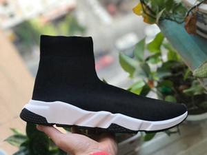 Socken-Schuh Männer Low Top Sneaker Vintage Frauen-Speed-Trainer Freizeitschuhe Klassik Pull-On Flache Socken Schuhe Schwarz Breathable Turnschuh