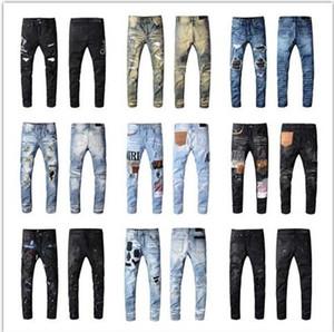 Yeni Kişilik Moda İşlemeli pantolon Biraz esnek Jeans Moda İnce Delik pantolon moda yüksek kaliteli pantolon