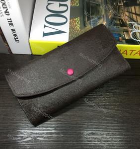 Emilie M60697 carteira L flor saco série Carteira aba pu couro carteiras de senhora longos bolsas carteiras bolsas das mulheres do desenhador