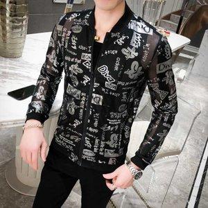 Chaqueta Hombre antisolaires vêtements Coiffure Division Veste Manteau Homme en vrac Sociologie 2020 Mode d'été Vêtements Brillante Nuit