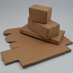 100 pcs 61 tamanhos Pequena caixa de presente de Papelão, pacote de papel kraft caixa de papel, Presente de papel artesanal de embalagens de sabão caixa de artesanato DIY