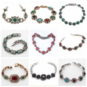 32 Diferente de ouro Estilo Tibet Branco Cor étnicas Bohemia Pulseiras para Mulheres Feminino Vintage pulseiras atacado