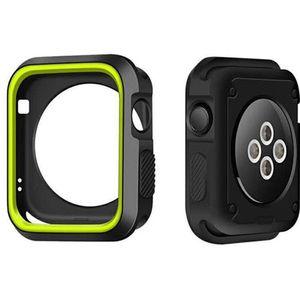 Caso TPU macio para Apple Watch 44 milímetros 40 milímetros 38 milímetros 42 milímetros Capa Shell Perfeito no vidro traseiro para a Apple iWatch Series quadro 4/3/2/1