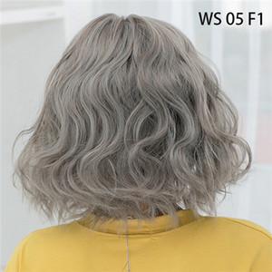 اسلوبك 43 الألوان الاصطناعية قصيرة متموجة BOB لمة إمرأة أسمر اسود الشعر الطبيعي الباروكات أنثى الحرارة الألياف مقاومة