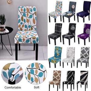 Elastico della sedia della copertura floreale Stretch Chair Stampa copertine per sposa Sala da pranzo Spandex Ufficio banchetti Housse De Chaise