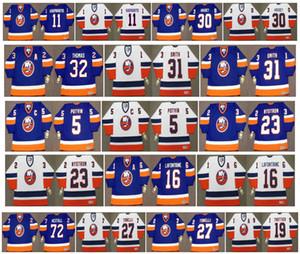 Vintage New York Adalılar Formalar 5 Denis Potvin 23 BOB NYSTROM 16 Pat LaFontaine 11 KASPARAITIS 30 KELLY HRUDEY 72 RON HEXTALL Retr Hokeyi