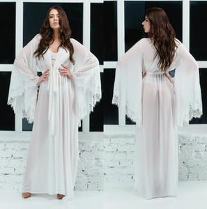 2020 шифон свадебные халаты с длинным рукавом халат женское белье ночная рубашка пижамы пижамы Женские сексуальные платья халат пояс