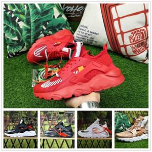 2019 Neue Huarache 4 IV Ultra Laufschuhe Mode Dreibettzimmer Schwarz Weiß Rot Grau Huaraches Designer Sneakers Sport Outdoor Herren Frauen Schuh