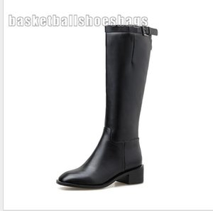 On Sale Hot Sale-Autumn and winter new style knee-high boots female thick with wild long boots